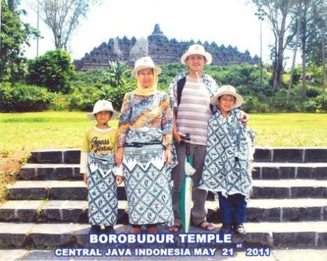 Sedang jalan2 ke Borobudur 21 Mei 2011