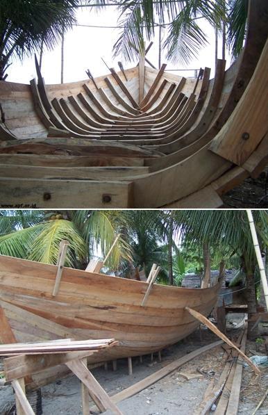 Kapal Ikan di Gampong Bangka Jaya, Aceh Utara