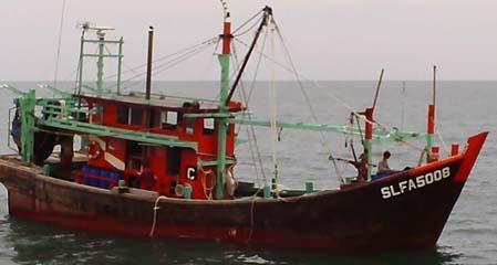 Kapal ikan ilegal Malaysia, di 25 mil pulau Jemur, Sumatra Utara