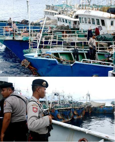 Kapal ikan ilegal Cina 8 kapal di laut Arafura, Maluku