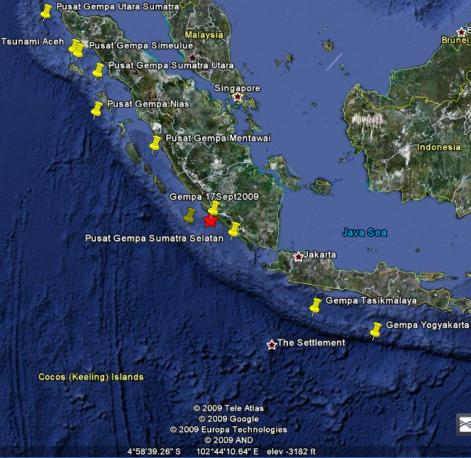 Earthquake picture image gambar gempa bumi sumatra selatan indonesia foto photo padang bukit tinggi