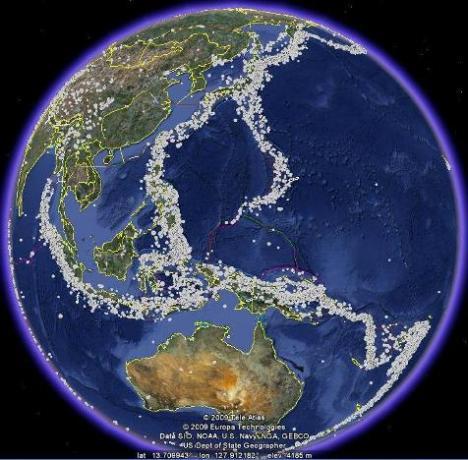Episentrum Gempa Dunia