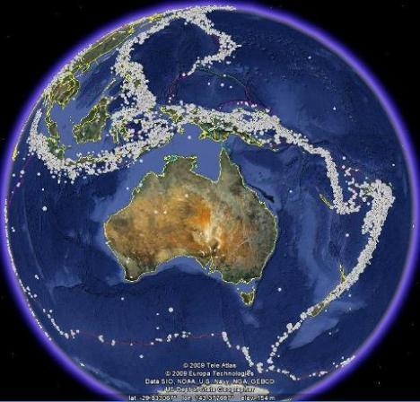 Australia sedikit gempa